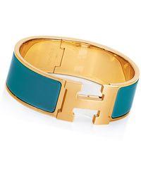 Hermès Clicclac H Bracelet - Lyst
