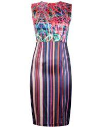 Marco Bologna Abstract Print Sleeveless Dress - Lyst