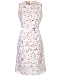 Michael Kors Flared Eyelet Dress - Lyst