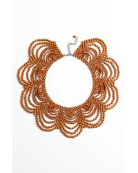 Natasha Couture Beaded Collar Necklace - Lyst