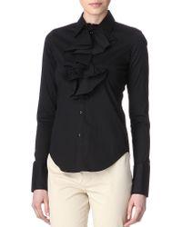 Ralph Lauren Ember Ruffled Shirt - Lyst