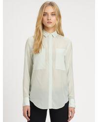 T By Alexander Wang Silk Chiffon Shirt - Lyst