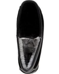 Ugg Ascot Leather and Velvet Slipper - Lyst