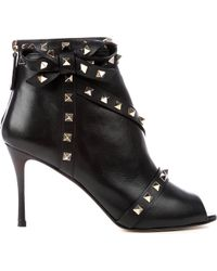 Valentino Rockstud Studded Leather Ankle Boots - Lyst