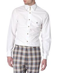 Vivienne Westwood Three-Button Collar Single-Cuff Shirt - For Men white - Lyst