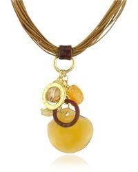 Antica Murrina Kali' - Murano Glass Charm Pendant Necklace - Lyst