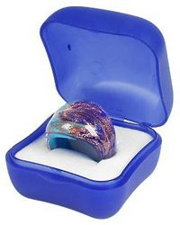 Antica Murrina - Laguna Blue Gold Murano Glass Ring - Lyst
