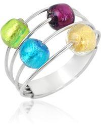 Antica Murrina - Lybra Sterling Silver and Murano Glass Ring - Lyst