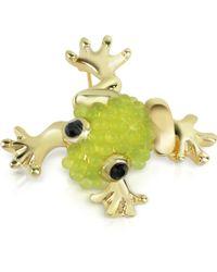 AZ Collection - Light Green Frog Brooch - Lyst