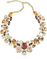 AZ Collection - Multicolour Crystal Necklace - Lyst