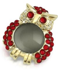 AZ Collection - Red Owl Pin - Lyst