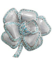 AZ Collection - Flower Brooch - Lyst