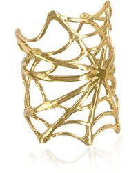 Bernard Delettrez - Spiderweb Bronze Ring - Lyst