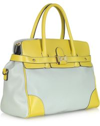 Blugirl Blumarine - Two Tone Eco Leather Tote Bag - Lyst