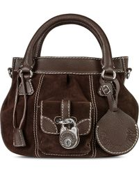 Buti - Dark Brown Suede And Leather Tote Bag - Lyst
