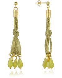 Daco Milano - Jade Sterling Silver Lace Drop Earrings - Lyst