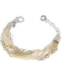 Daco Milano - Multi-Strand Sterling Silver And Lace Bracelet - Lyst