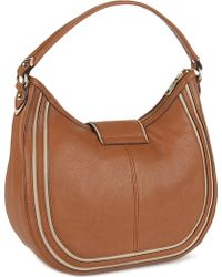 DKNY Heritage Town Country Leather Shoulder Bag - Lyst