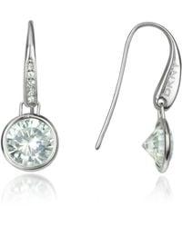Dkny Crystal Drop Earrings Lyst