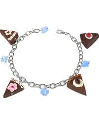 Dolci Gioie - Sterling Silver Chocolate Cake Charm Bracelet - Lyst