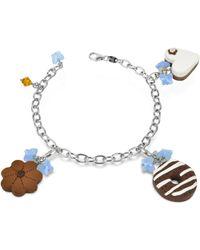Dolci Gioie - Sterling Silver Detachable Charm Bracelet - Lyst