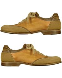 FORZIERI - Men'S Camel Handmade Italian Leather Lace-Up Shoes - Lyst