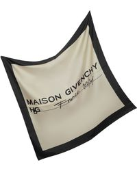 Givenchy   Signature Two Tone Silk Scarf   Lyst