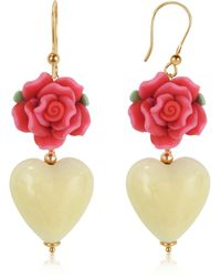 House of Murano - Heart Murano Glass Drop Earrings - Lyst