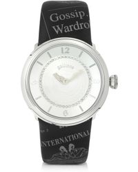 John Galliano - Parlez-moi Deternite - Stainless Steel and Crystals Womens Watch - Lyst