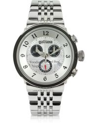 John Galliano - Chrono Stainless Steel Men'S Watch - Lyst
