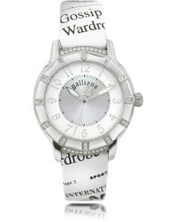 John Galliano - Parlez Moi Damour Stainless Steel with Leather Strap Watch - Lyst