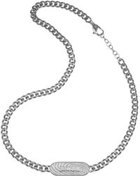 Just Cavalli - Touch - Signature Plate Chain Necklace - Lyst