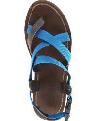 Lanvin Contraststrap Sandals - Lyst