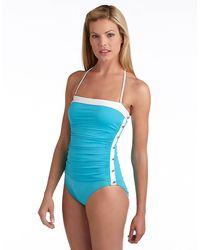 Lauren by Ralph Lauren Bel Aire Onepiece Swimsuit - Lyst
