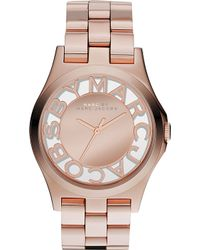 Marc By Marc Jacobs Mbm3207 Henry Rose Gold-Toned Stainless Steel Watch - For Women - Lyst