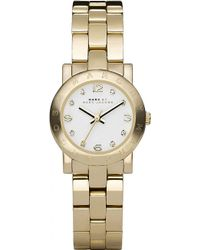 Marc By Marc Jacobs Mbm3057 Mini Amy Gold-Plated Watch - For Women - Lyst