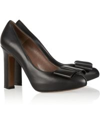 Marni Bow Embellished Leather Pumps - Lyst