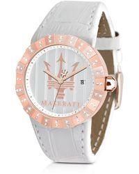 Maserati - Tridente Rose Golden Stainless Steel Womens Watch - Lyst