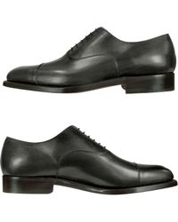 Moreschi | Londra - Black Calfskin Cap Toe Oxford Shoes | Lyst