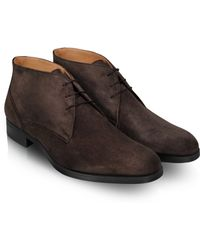 Moreschi Stiria - Dark Brown Suede Ankle Boots - Lyst