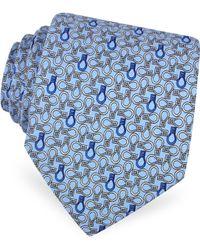 Moreschi | Horse Bits Printed Silk Tie | Lyst