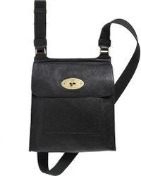 Mulberry Antony Natural Leather Messenger Bag Black - Lyst