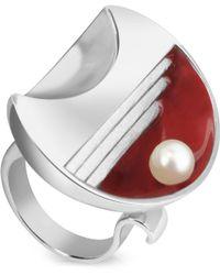 Naoto - Omaggio A Palladio Glass Pearl Ring - Lyst