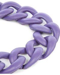 Natalia Brilli Leather Chain Choker Necklace - Lyst