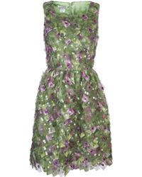 Oscar de la Renta Embellished Flared Dress - Lyst