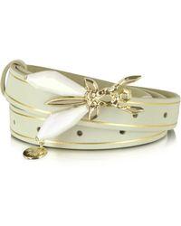 Patrizia Pepe - Precious Fly Jeweled Buckle Suede Belt - Lyst
