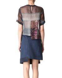Preen By Thornton Bregazzi Quarter Silk Tshirt - Lyst