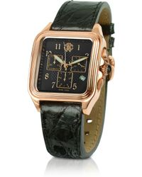 shop men s roberto cavalli watches from 350 lyst roberto cavalli venom mens stainless steel and leather chrono watch lyst