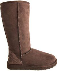 Ugg Classic Tall Sheepskin Boots Dark Brown - Lyst