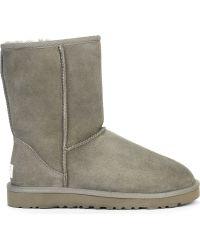 Ugg Classic Short Sheepskin Boots Grey - Lyst